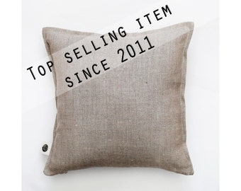 Linen pillow cover -  decorative pillows collection from solid fabrics handmade for home decor- custom size   0040
