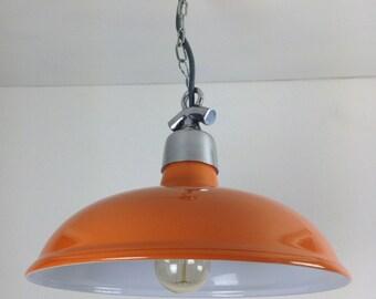 Orange Factory Ceiling Light