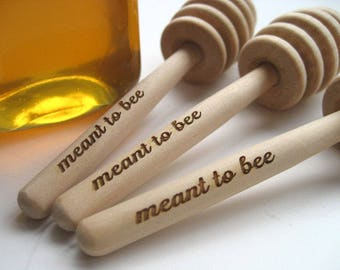 HONEY Dipper Wedding Favor  - Meant To Bee Engraved Honey Dipper - Set of 40