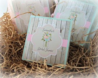 Shower Favors, Baby Shower, Bridal Shower, Soap Favors, Country Favors, Mason Jar, Country wedding, set of 10