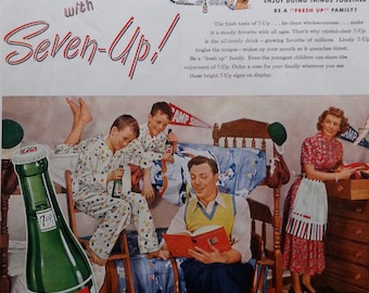 1948 7up Soda Advertising Ad - Vintage Ad