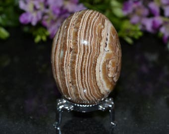 Aragonite Egg - 61 MM Aragonite Egg - Egg Sstand Included
