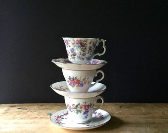 Vintage Royal Albert Tea Cup and Saucer, Nell Gwynne Series, Mayfair, Bone China, English China, Chintz Floral China, Shabby Teacups