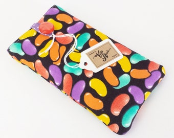 Jelly Bean Sweets Candy Crush Fabric Padded Phone Case Sleeve Cover iPhone X 6 6s 7 8 Plus Samsung Galaxy S9 /+ Google Pixel 2 / XL Sweeties