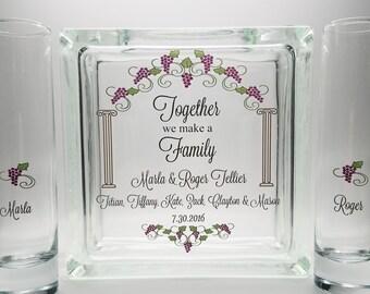 Sand Ceremony Kit, Vineyard Wedding, Sand  Ceremony Set Blended Family, Unity Candle Alternative, Together We Make a Family, Unity Sand