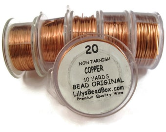 20 Gauge Copper Wire - Round Wire for Making Jewlery, Non Tarnish Wire, Wire Wrapping Supplies
