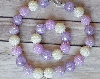 Purple Amulet, Amulet of Avalor, Childrens Necklace,  Toddler Necklace, chunky necklace, girls necklace, bubble gum necklace