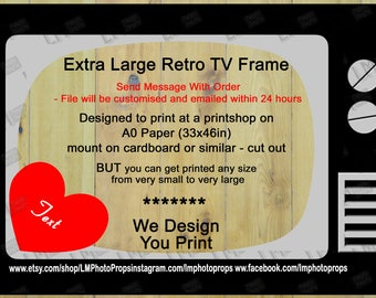 I love lucy party etsy retro tv frame television retro tv customisable do it yourself solutioingenieria Gallery