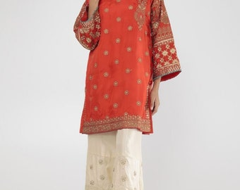 Pakistani Designer Embroidered Kurta  for Party Wear