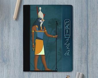 Egyptian Gods / Gods of egypt / Anubis / Bastet / Horus / Hathor / Isis / Sekhmet / Seth padfolio / notebook with your name in hieroglyphs