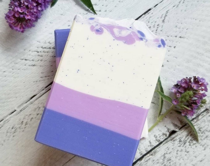 Lovely Lilac Silk Soap / Handmade Soap  / Cold Processed Soap