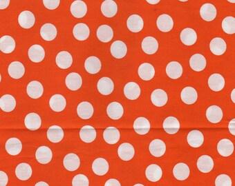 Cotton coupon orange dots 24 x 108 cm