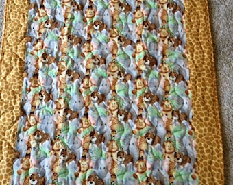 Animal print baby/toddler quilted blanket