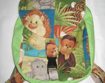 """Bag teens for the nursery """"A tour in the jungle"""""""