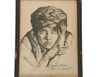 Vintage Portrait Drawing