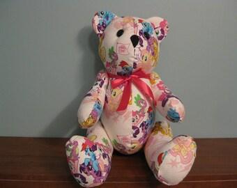 My Little Pony Bear-pink-stuffed bear novelty bear souvenir bear handmade bear custom bear teddy bear