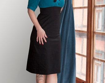 elegant day dress with V-neck