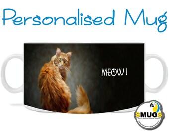 CAT MUG. Ginger Biscuit.