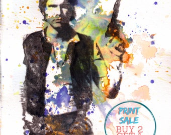 Han Solo Star Wars Poster Star Wars Print From Original Painting Star Wars Art Print Pop Art Star Wars Decor Poster Wall Art Star Wars Gift