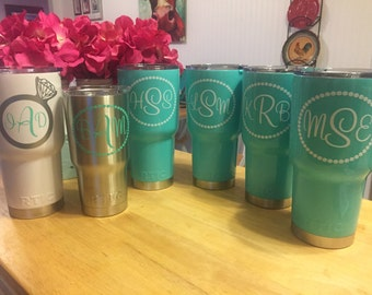 Bridal Decals for YETI, RTIC, CORKCICLES - Ring, Dots, Brides, Bridesmaids