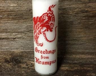 Krampus Prayer Candle