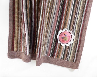 Crocheted Baby Blanket - Brown