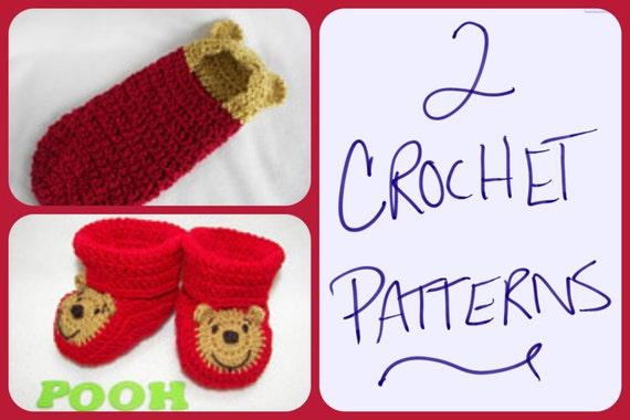 Two Crochet Patterns Newborn Hooded Cocoon Pod Winnie The Pooh 0