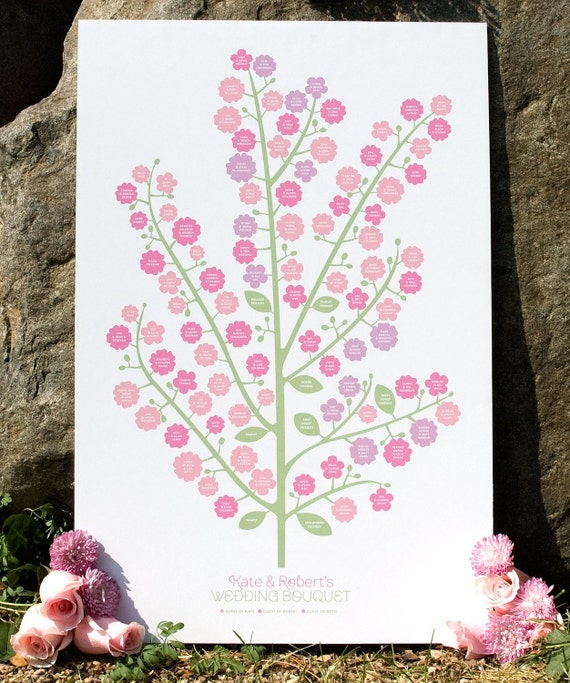 Wedding Tree Genealogy Chart By Melangeriedesign On Etsy: Items Similar To Wedding Bouquet Genealogy Chart On Etsy