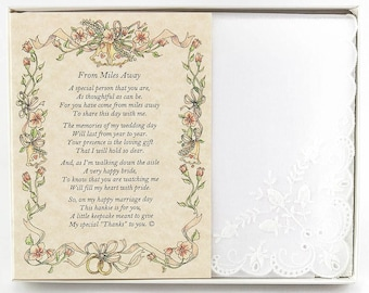 Personalized From the Bride to an Out-of-Town Guest Wedding Handkerchief - BH109