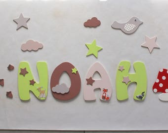 stickers for embellishment name wooden forest animals