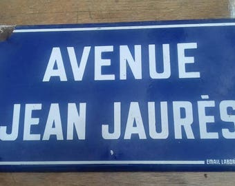 Old French enamel and steel street sign