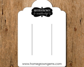 Custom Hair Pin Barrette Bow Display Cards - Jewelry Display Packaging Personalized Tags - Your Logo