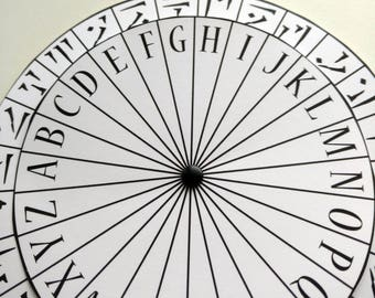 Spy Decoder Cipher Wheel Printable - Secret Agent Coded Message Encoder Decryption Digital File