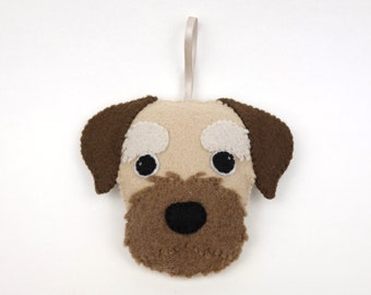 Felt Dog Ornament - Border Terrier