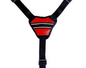 "Conversion Straps with padded center piece, 1"" wide adjustable neck and chest straps for Cozy Horse Backpack style harness vests only"