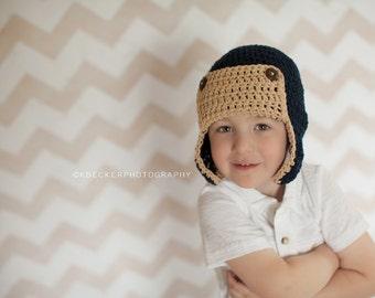 newborn boy hat, newborn hat,  baby boy hat,      boys hat, crochet boys hat, little boys hat, baby boy hat aviator hat, winter hat for boys