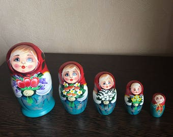 Traditional Russian Matryoshka Nesting Doll