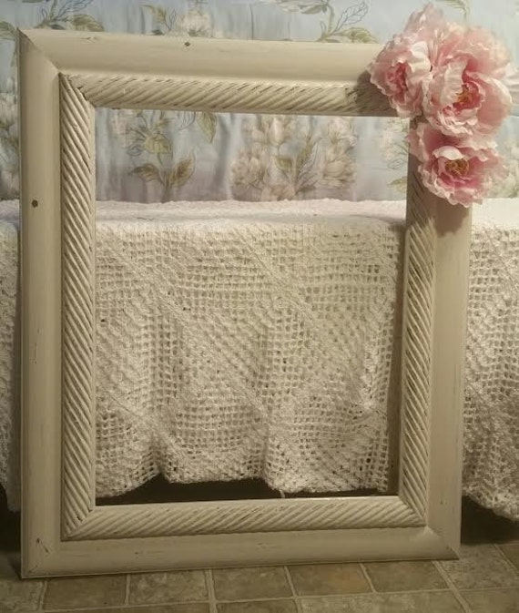 Picture Fame - White Picture Frame - Shabby Chic Picture Frame ...