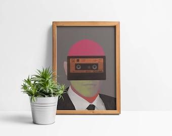 Cassette Man Giclée Print
