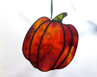 Stained Glass Pumpkin - Large Tall