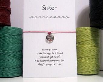 Sister Flower  Wish Bracelet
