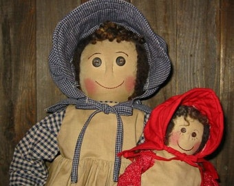 Primitive, Prairie Mama and Child E-Pattern, PDF, Downloadable Digital Pattern