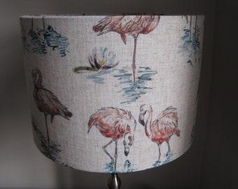Florida Flamingos Drum Lampshade