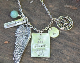 Oh, The Places You Will Go! Graduation Necklace for the Special Graduate in Your Life