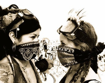Dustmask. Beautiful Jeweled, Lace, Dust Mask, Dust Storm. Dust Mask. Comfortable. Adjustable Dust Mask. Festival Mask. Please order early