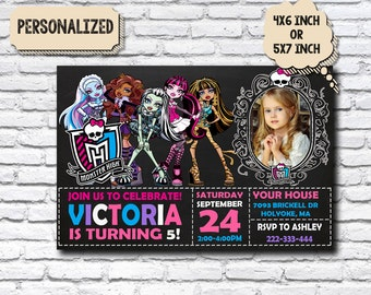 Monster High Invitation / Monster High Birthay / Monster High Party / Monster High Birthday Party / Monster High Printable_CB377