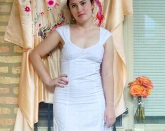 vintage girly white eyelet dress