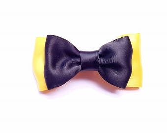 5-50 Emma Yellow Wiggles-inspired Bows Hair clips elastic ties Party Costume give-aways