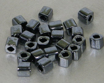 Toho 4mm Cube, Hematite Metallic (81), 10 grams
