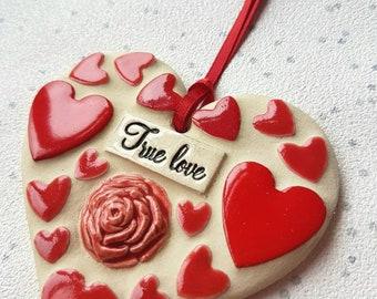 True love heart, mosaic Love heart, true love token, love heart art, true love forever, Valentine's gift, wedding gift, anniversary, lover